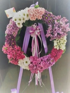Wreath in Pastels