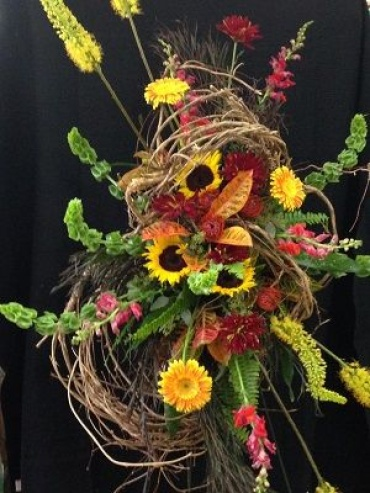 Fall Arrangement on Stand