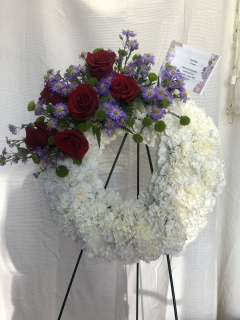Rose and Carnation Wreath